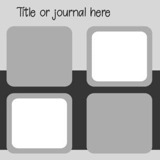 digital scrapbooking layout template