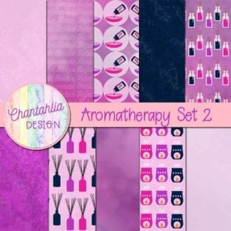 aromatherapy digital papers