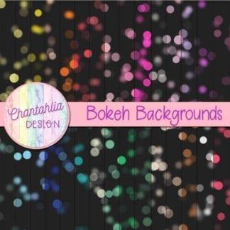 bokeh backgrounds digital papers