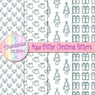 aqua glitter christmas patterns