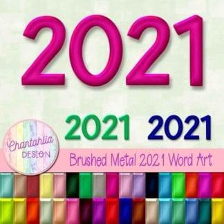 2021 word art