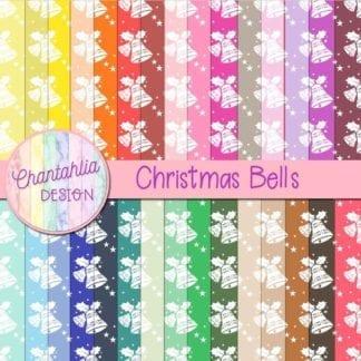 christmas bells digital papers