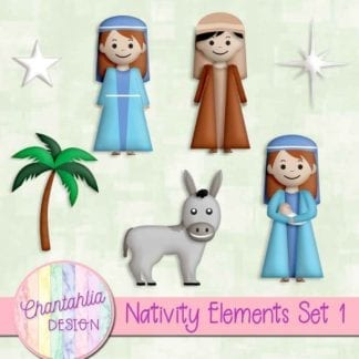 design elements in a Christmas Nativity theme