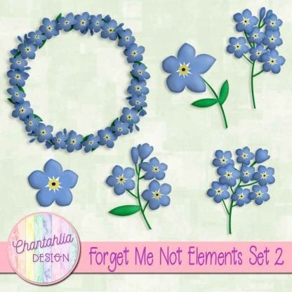 free forget me not design elements