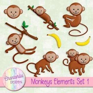 Free design elements / clip art in a Monkeys theme