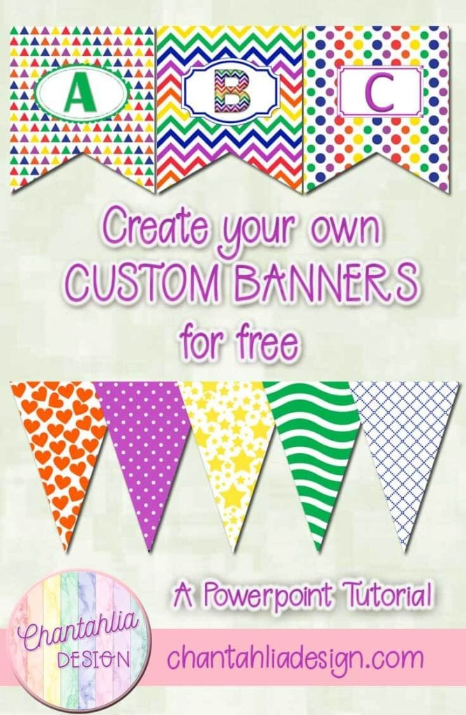 Banner bunting examples that you can learn to make with this free tutorial.