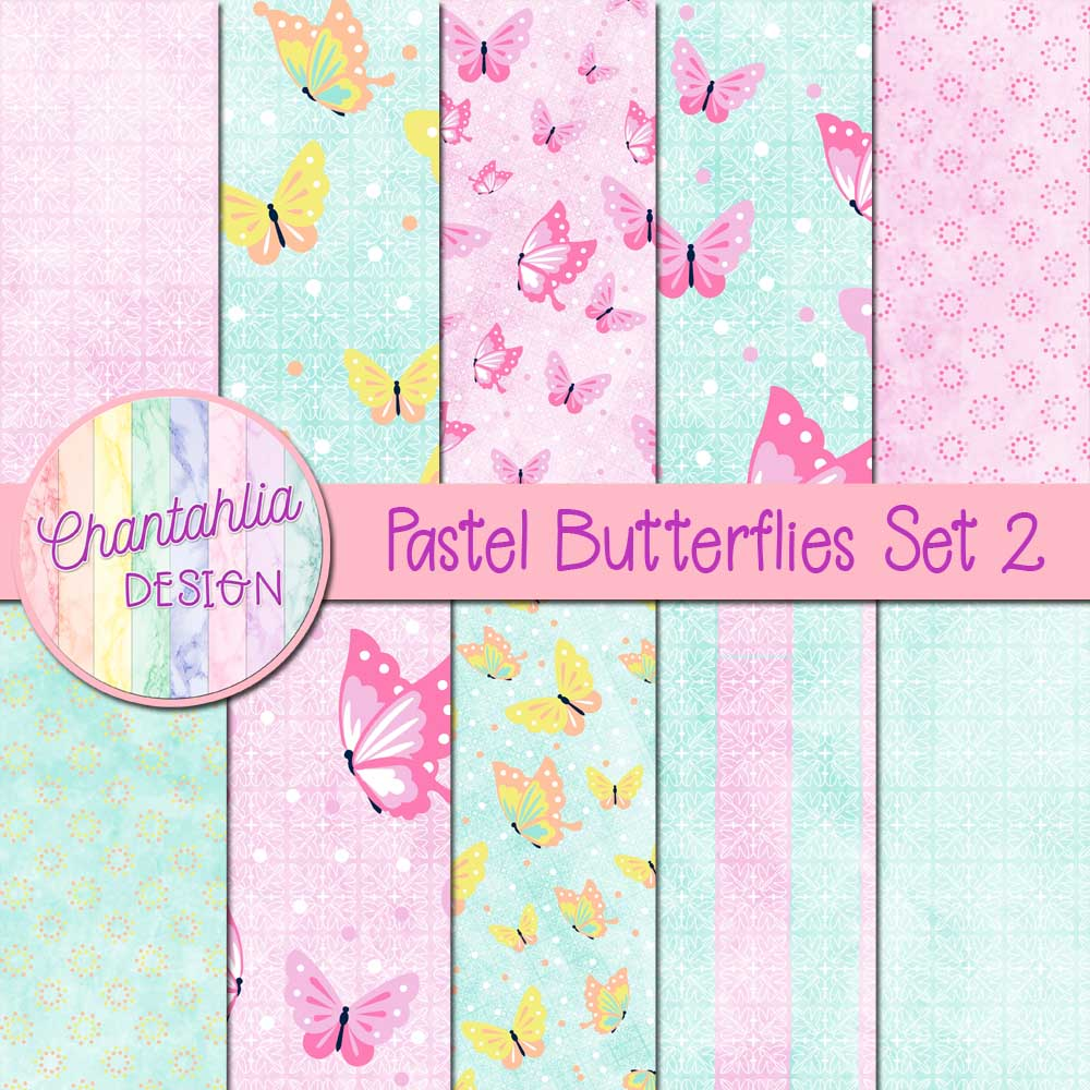 butterfly digital papers