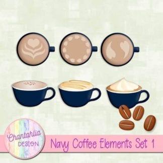 navy coffee element