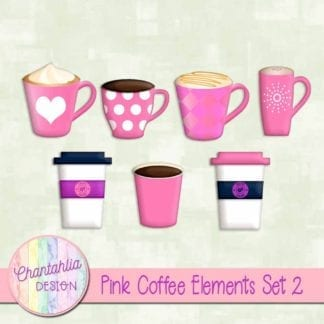 pink coffee elements
