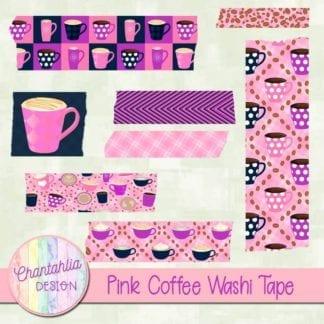 pink coffee washi taoe