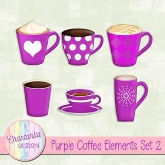 purple coffee elements