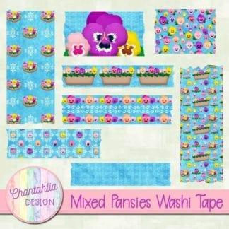 pansies washi tape