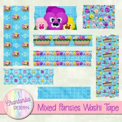 pansies washi tape