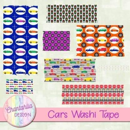 cars washi tape