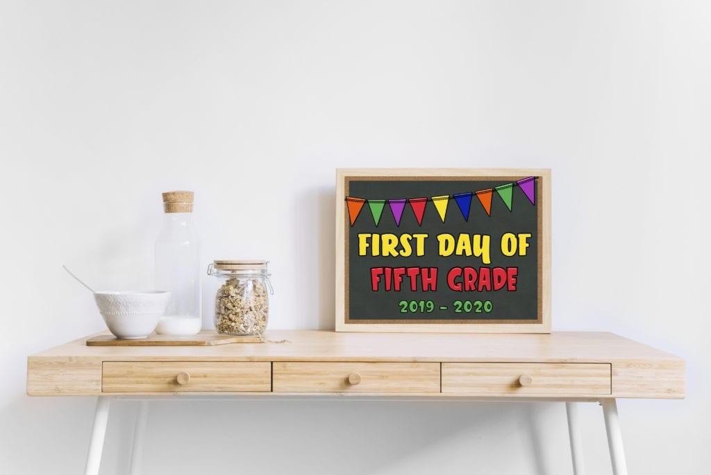 Mock up pic of framed school sign