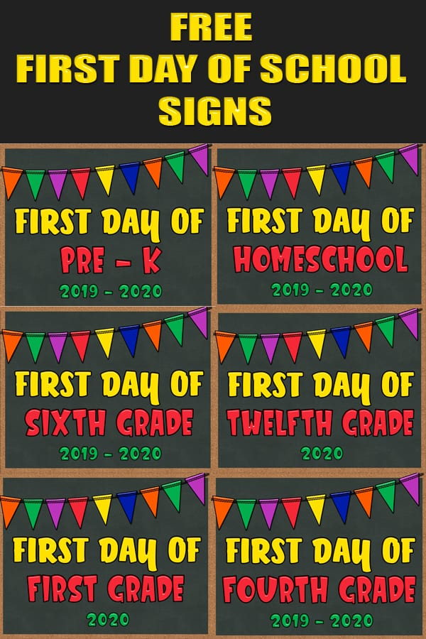 First Day Of Fall 2020.Free First Day Of School Signs Chantahlia Design