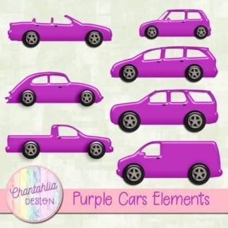 purple cars elements