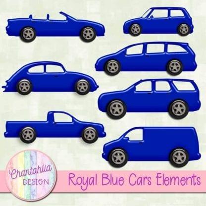 royal blue cars elements