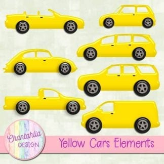 yellow cars elements