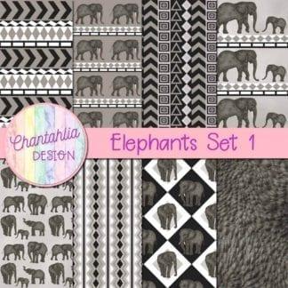 elephants digital papers