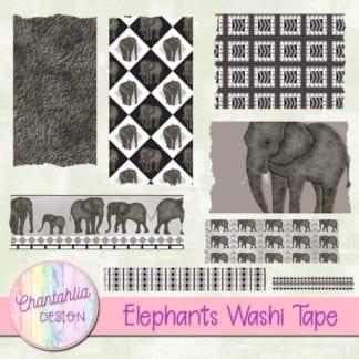elephants washi tape