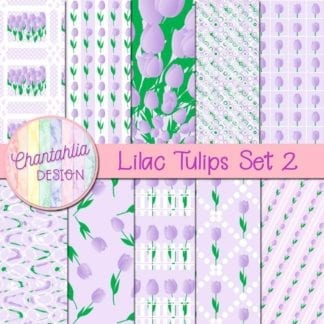 lilac tulips digital papers