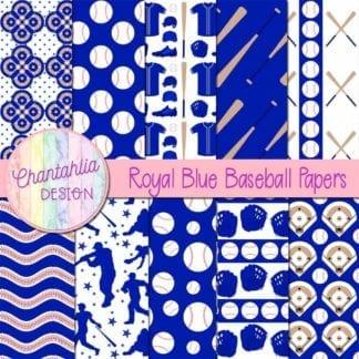 royal blue baseball digital papers