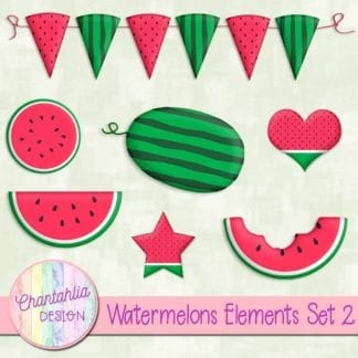 watermelons design elements