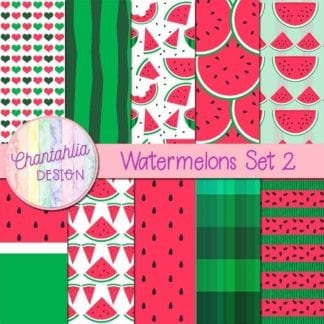 watermelons digital paper