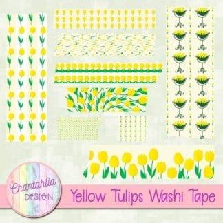 yellow tulips washi tape
