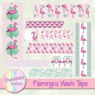 flamingos washi tape