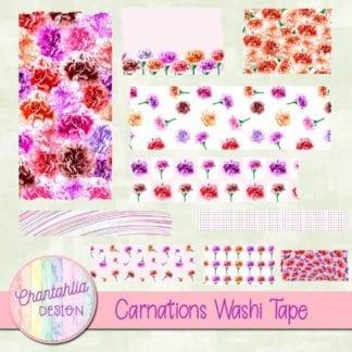 carnations washi tape