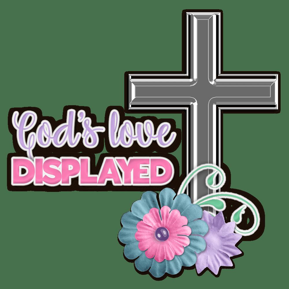 God's love displayed digital scrapbooking flourish