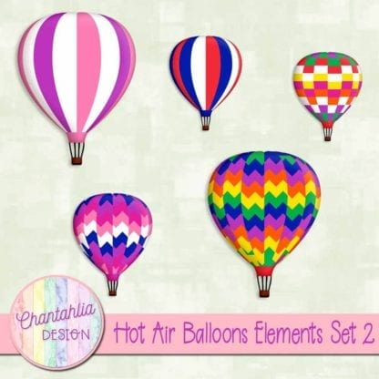 hot air balloons elements