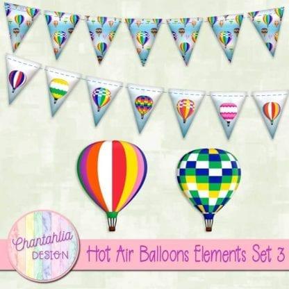 hot air balloons elements
