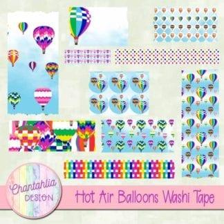 hot air balloons washi tape