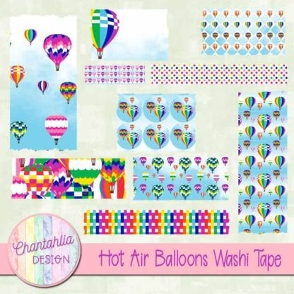 hot air balloons washi tape