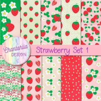 strawberry digital papers