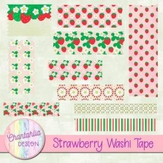 strawberry washi tape