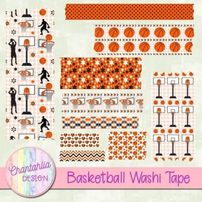 basketball washi tape