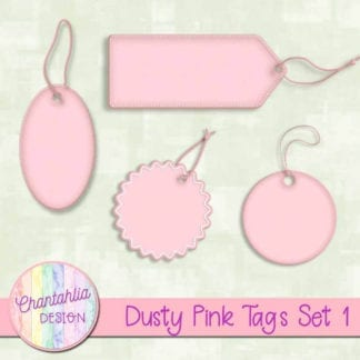 dusty pink tags
