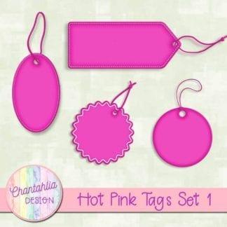 hot pink tags