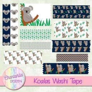 koalas washi tape