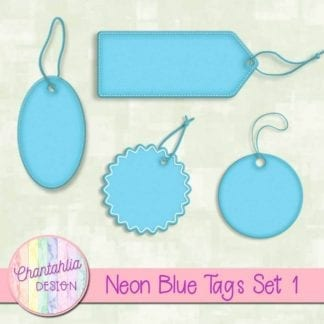 neon blue tags