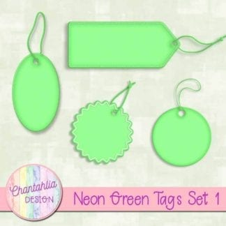 neon green tags