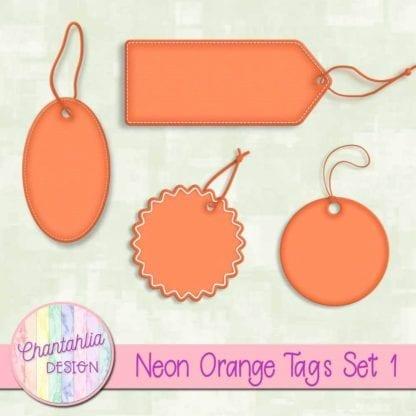neon orange tags