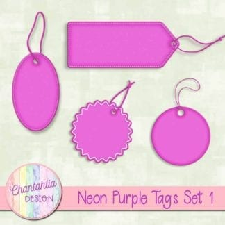 neon purple tags