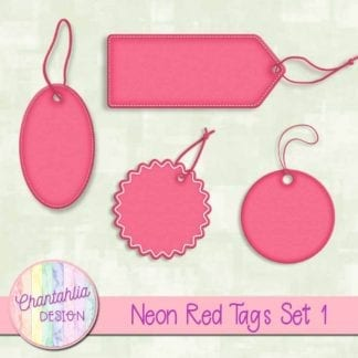 neon red tags