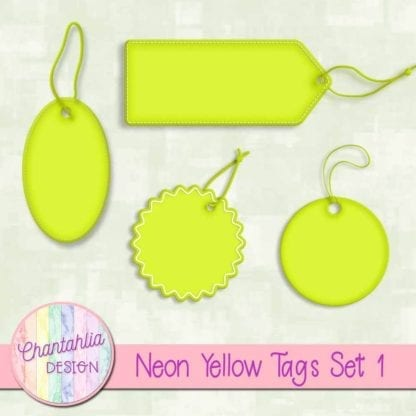 neon yellow tags