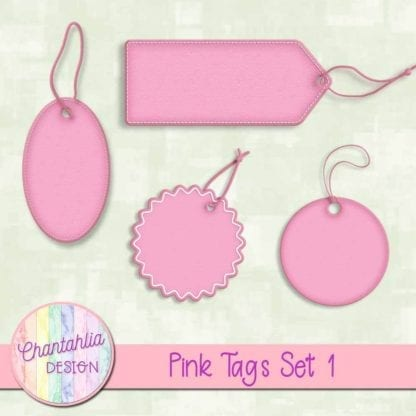 pink tags